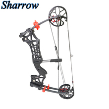 цена на Junxing Hunting Compound Bow 30-60lbs Adjustable Aviation Aluminum Mechanical Pulley Professional Archery Bow Super Strong