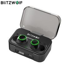 BlitzWolf FYE3S 3 TWS אמיתי אלחוטי Bluetooth 5.0 אוזניות 2600mAh גדול סוללה דיגיטלי כוח תצוגת ספורט אוזניות