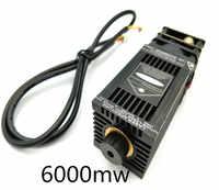 Livraison gratuite haute puissance vrai 6W 6000mW 445nm 450nm Module de gravure Laser Module de gravure Laser bricolage tête Laser avec pwm/TTL