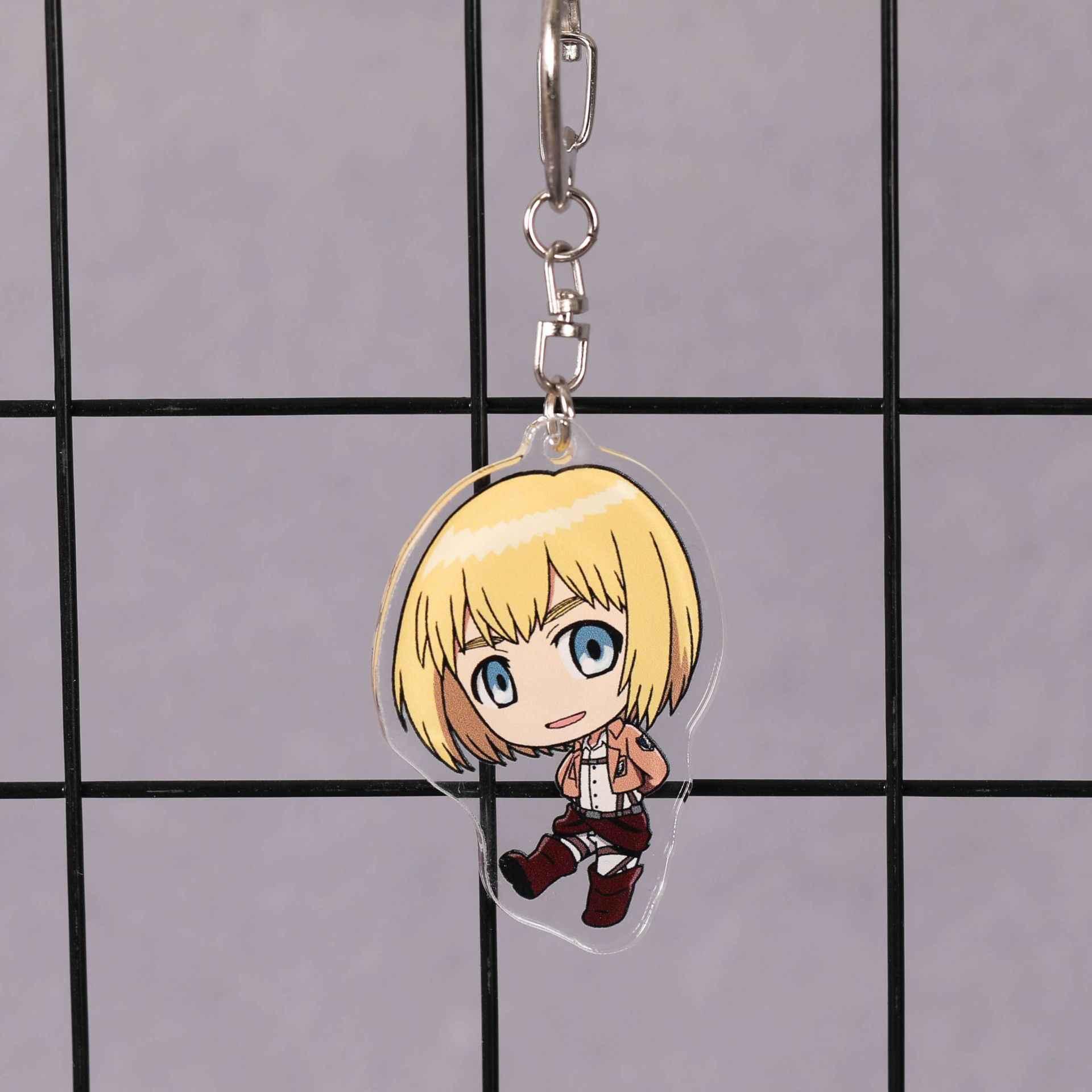 타이탄 키 체인에 새로운 도착 애니메이션 공격 일본 만화 shingeki no kyojin 거대한 자동차 키 홀더 체인 열쇠 고리 보석 선물