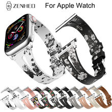 Genuine Leather band For Apple Watch 38mm 42mm iWatch 4 44mm 40mm belt Bracelet watch 3 2 1 Accessories