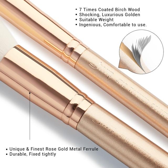 Jessup brush Makeup brush set 6pcs-30pcs Golden / Rose Gold POWDER EYESHADOW CONCERLER foundation brush 3