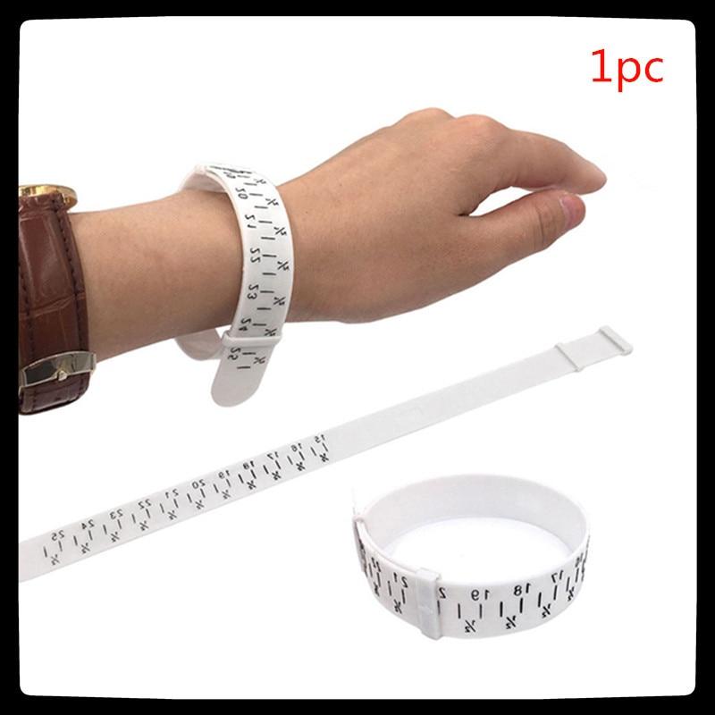 1Pcs Plastic Bracelet Finger Gauge Sizer Jewelry Measure Wrist Size Tool Jewellery Making Tools For Jewelers