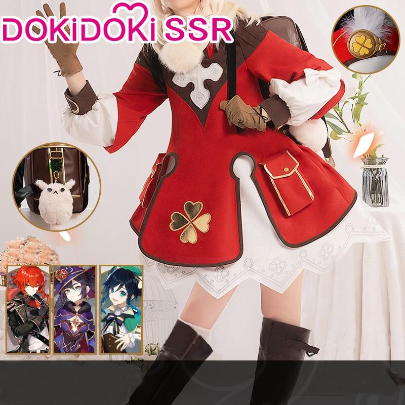 PRE-SALE DokiDoki-SSR Game Genshin Impact Cosplay Хэллоуин Klee Genshin Impact Klee Cosplay