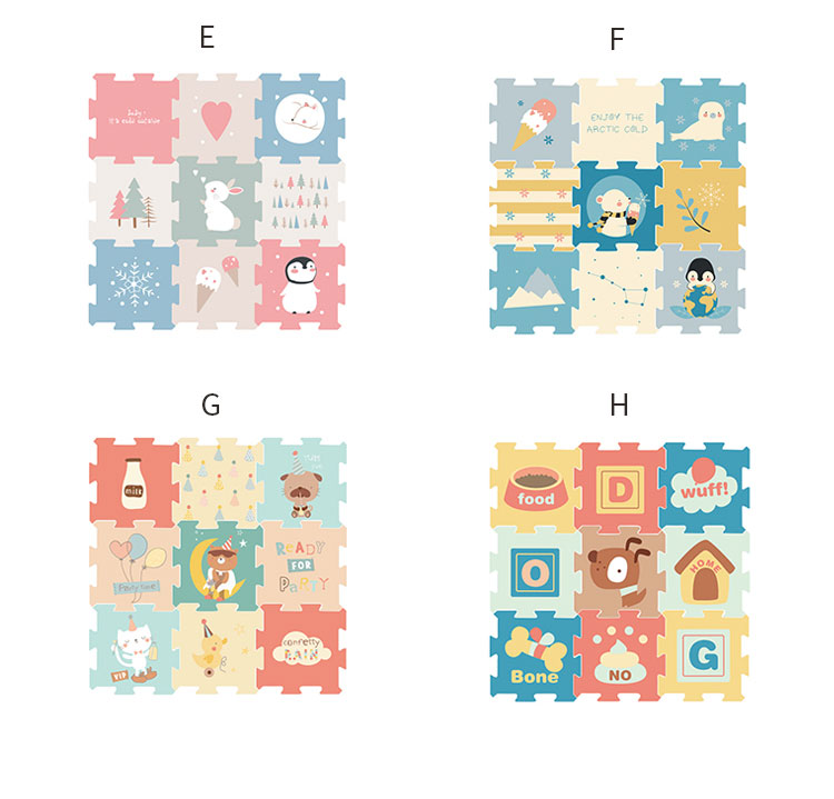 Hb207fbfaa71a4afcae5abf87075b459b1 BabyGo 9pcs Baby Puzzle Play Mat XPE Foam Waterproof 82*82*2cm Thickened Children'S Crawling Pad Living Room Activity Floor Mat