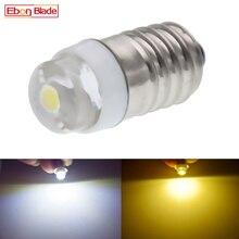 1/2 pièces E10 LED 3V 4.5V 5V 6V 12V 18V vis 0.5W blanc chaud ampoule GLOBE pour lampe torche lampe frontale voiture tableau de bord bateau vélo