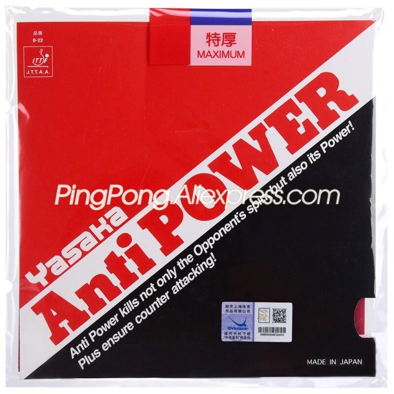 Yasaka Anti Power Anti Spin Table Tennis Rubber Pips-In Original Yasaka ANTIPOWER Ping Pong Sponge