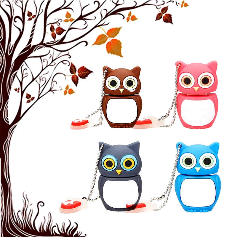 Cute Animal USB Flash Drive 64GB Cartoon Owl Pendrive 8GB Flash Memory Stick 16GB USB Stick Pen Drive 32GB Creative Special Gift
