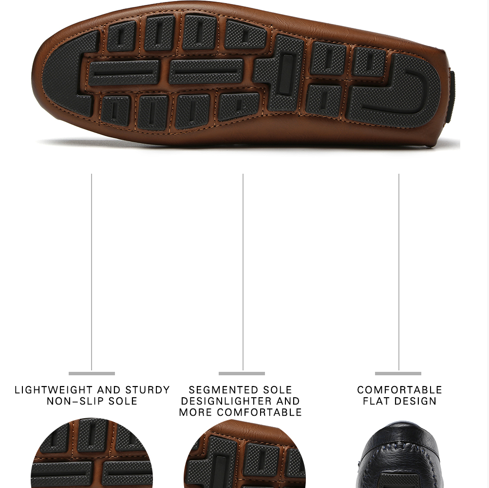 Hb208686c05684ad3ab25ec3bedc300c6V Men's Casual Shoes Men Moccasins Autumn Fashion Driving Boat Shoes Male Leather Brand Slip-On Classic Men's shoes Loafers