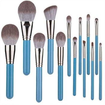 13pcs Grey Brush Makeup Brush Set Loose Powder Brush Eyeshadow Eyebrow Brush Lip Brush Cosmetic Brush Kit Soft-- MKXJ фото