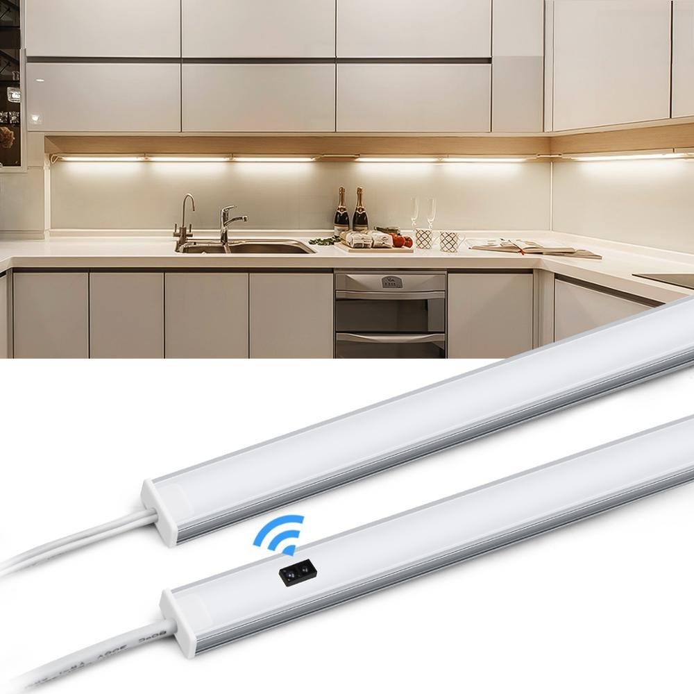 Conectável a 10 m conduziu a tira clara com interruptor esperto da varredura da mão 5/6/7 w lâmpada da cozinha luz de fundo alto brilho guarda-roupa lâmpada 12 v
