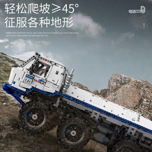 In stock MOULD KING 13144 Technic The Arakawa Moc Tow off road Truck Tatra 813 8x8 Snowplow with Building Blocks Bricks Toys|Blocks|   -