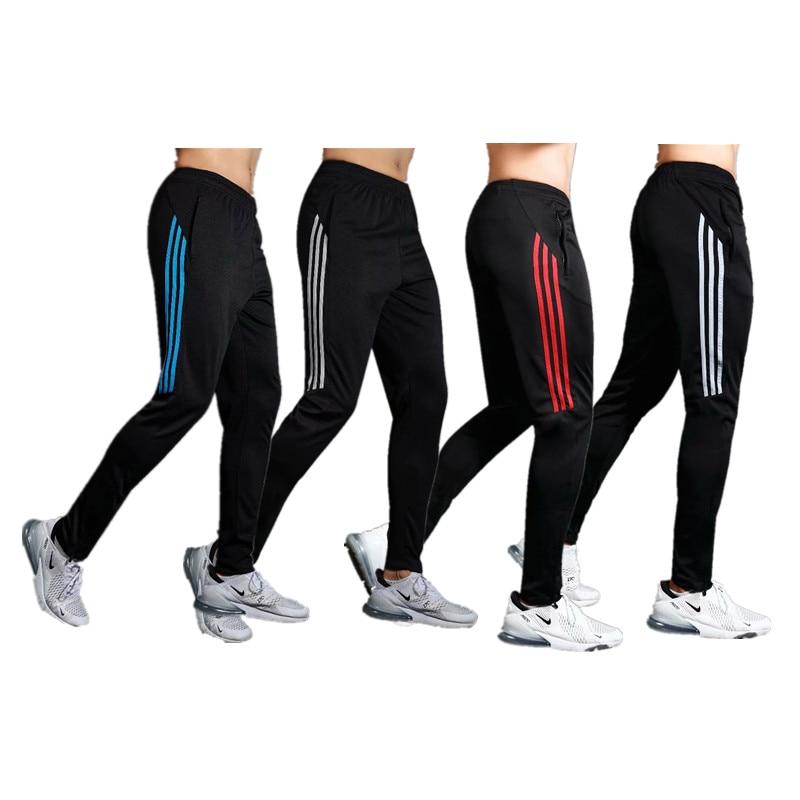 Men Sports Running Pants Athletic Football Soccer Pants Training Sport Pants Elasticity Legging Jogging Gym Fit Trousers