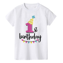 Kids Birthday Tshirt Funny Birthday Number 1-8 Print Toddler Baby Boy Girl T-shirt Summer Fashion Children Party T Shirt Clothes(China)