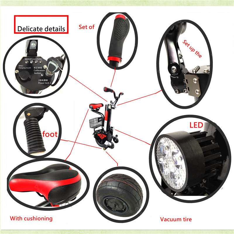 Daibot Powerful Electric Unicycle One Wheel Self Balancing Scooters 500W 60V Electric Scooter Adults With Seat (10)