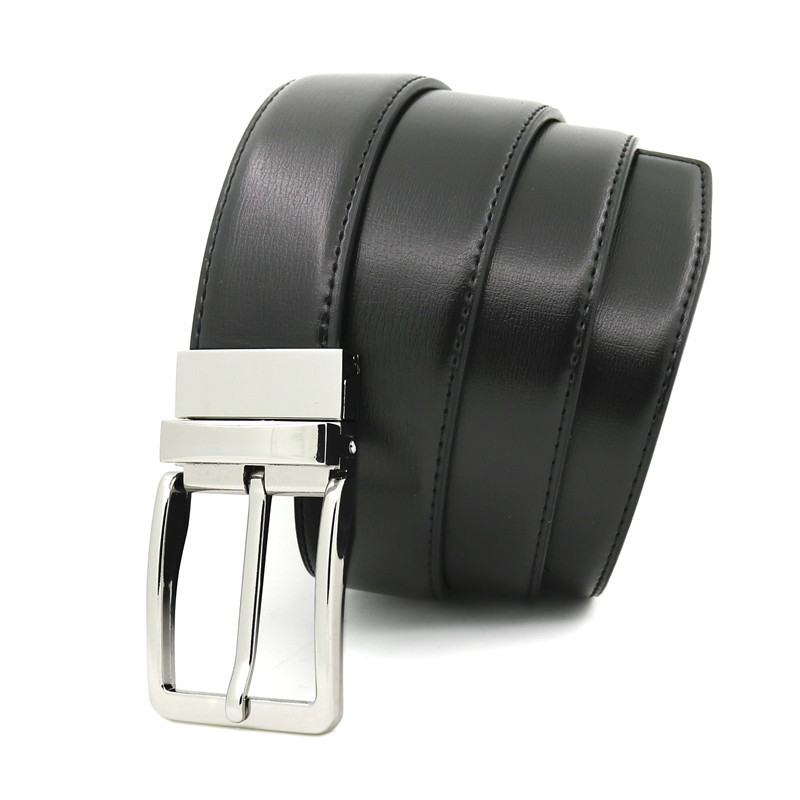 New Revolvable Buckle Belts For Men Formal Business Genuine Leather Belt Designer Fashion Belt Luxury Waist Strap w 3 5cm Belts in Men 39 s Belts from Apparel Accessories