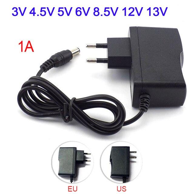 3V 4.5V 5V 6V 8.5V 12V 13V 1A Power Supply Adapter Charger Universal Switching Inverter Led AC DC 220V To 5V 12V  Power Supply