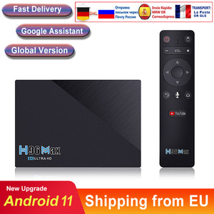 Caixa de tv inteligente h96max android 11 rk3566 quad-core 64bit 8k duplo wifi bt media player play store aplicativo gratuito conjunto rápido caixa superior iptv