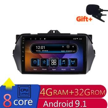 "9"" 4G RAM 8 cores Android Car DVD GPS Navigation for SUZUKI CIAZ / Alivio 2014 2015 2016 audio stereo car radio headunit wifi"