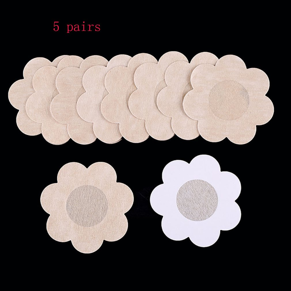 5Pair/set Invisible Breast Lift Tape Overlays On Women's Bra Stickers Chest Stickers Nipple Covers Bikinis Accessories