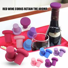 Tapas de silicona para botellas de vino, tapabocas de Tapones de botellas de vino de silicona para alimentos, frascos de vidrio y tapas
