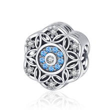 Strollgirl new 100%925 Sterling Silver Romantic Snowflake Dazzling CZ Bead fit Pandora Charm Bracelet Jewelry 2019 Free Shipping