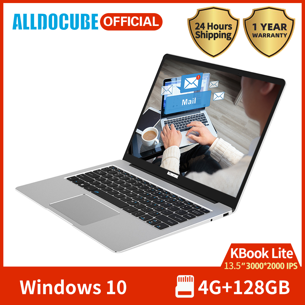 Alldocube KBook Lite 13.5 Inch Intel Apollo Lake N3350 Windows 10 Quad Core Tablet 4GB RAM 128GB SSD 3000*2000 IPS With Keyboard