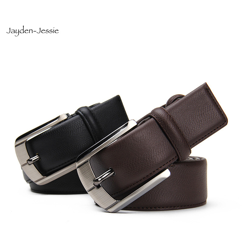 High Quality Luxury Brand Leather Lines Real Cowskin Belt Pin Buckle Business Men Trouser Strap Cinturones Hombre Cinto