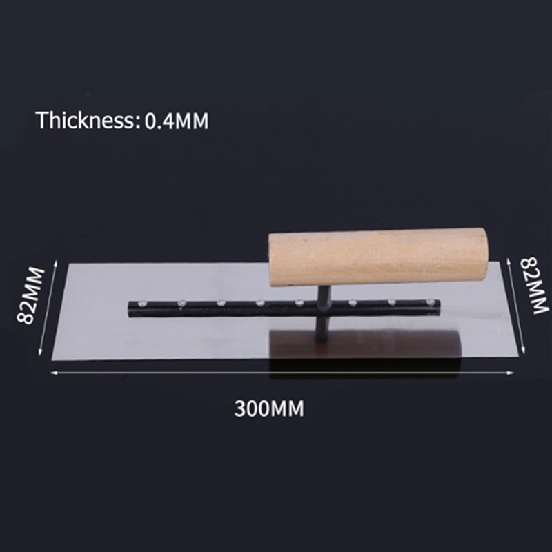 Stainless Steel Mud Trowel 300x82mm Interior Decoration Tool Trowel Pusher Tool Construction Tool