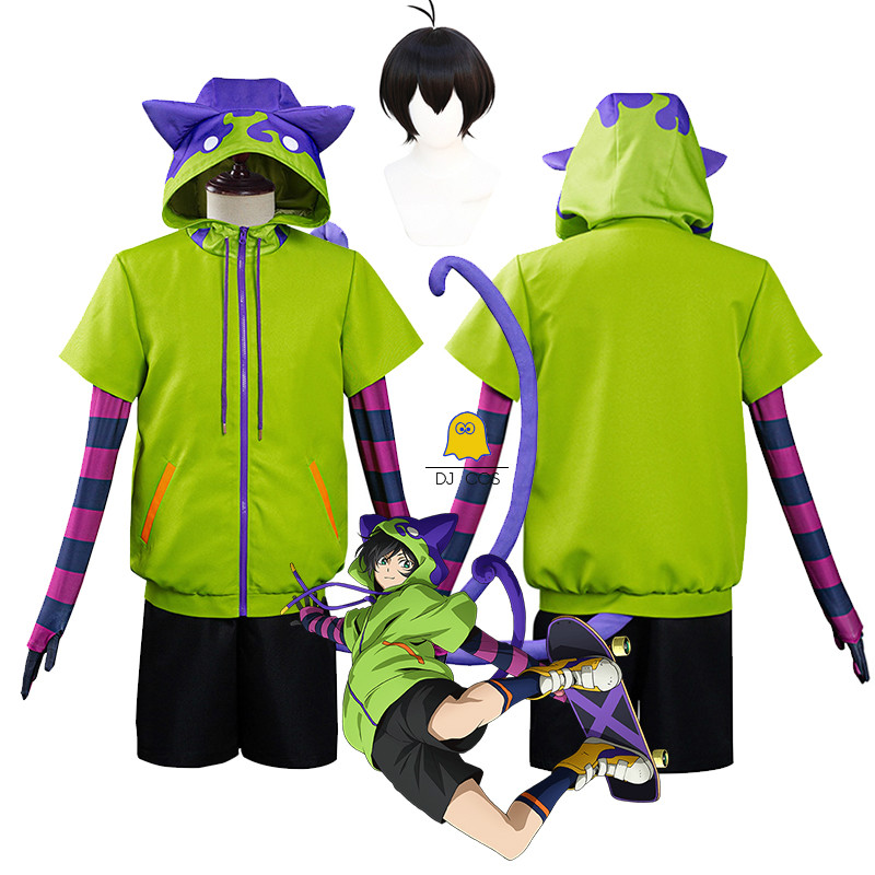 Short Wig Jacket Costume Hoodie Eight-Suit Party-Outfits Miya Chinen SK8 Cosplay The-Infinity-Anime