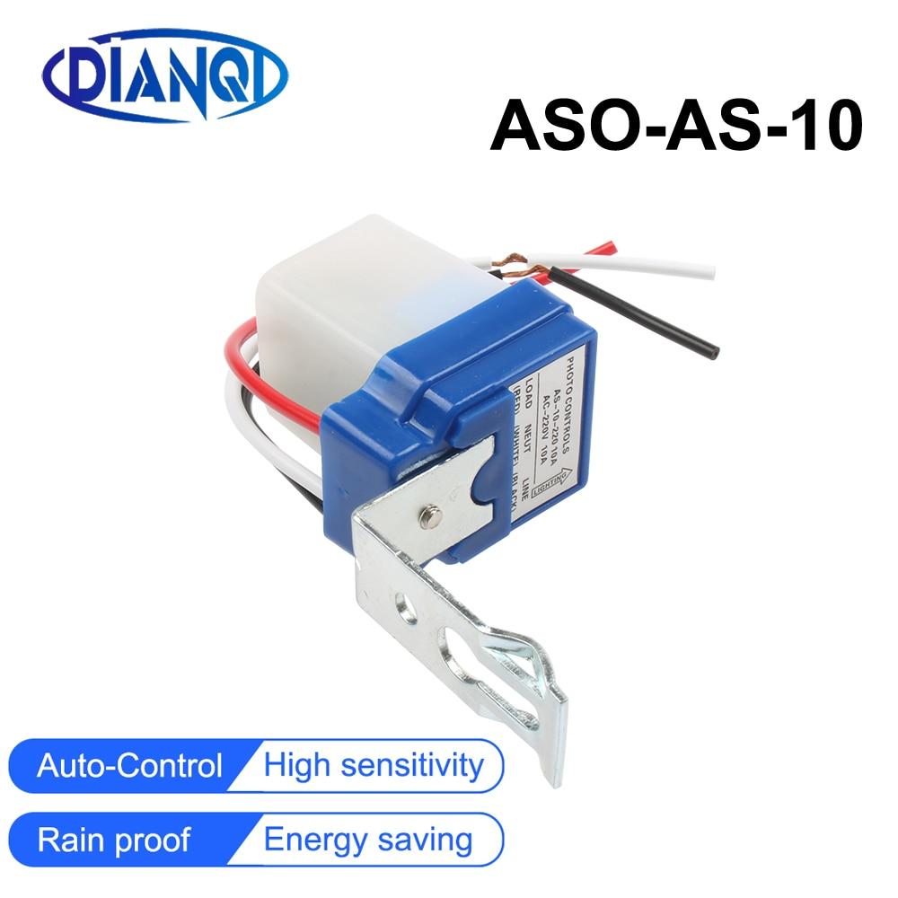 Новый AS-10 10А фотопереключатель, сенсорный переключатель, автоматическое включение и выключение, фотоэлемент, уличный светильник, управлени...