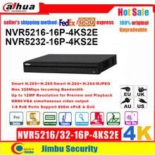 Dahua NVR 4KคนนับNVR5216 16P 4KS2E NVR5232 16P 4KS2Eแผนที่ความร้อน16poeพอร์ต1 8 PoEสนับสนุน800M EPoE & EoC