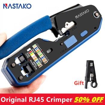 цена на NASTAKO RJ45 Tool rj45 Crimping Tool Network Crimper Stripper Cutter Ethernet Cable Fit RJ45 Cat6 Cat5e Cat5 RJ11 RJ12 Connector