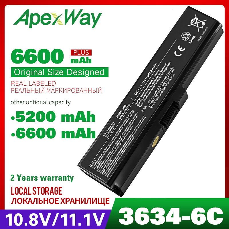 Laptop Battery For Toshiba Satellite A655 A660 A665 A665D C655 C660 C665 C670 Series Dynabook T350 T551 Series PA3634U-1BRS