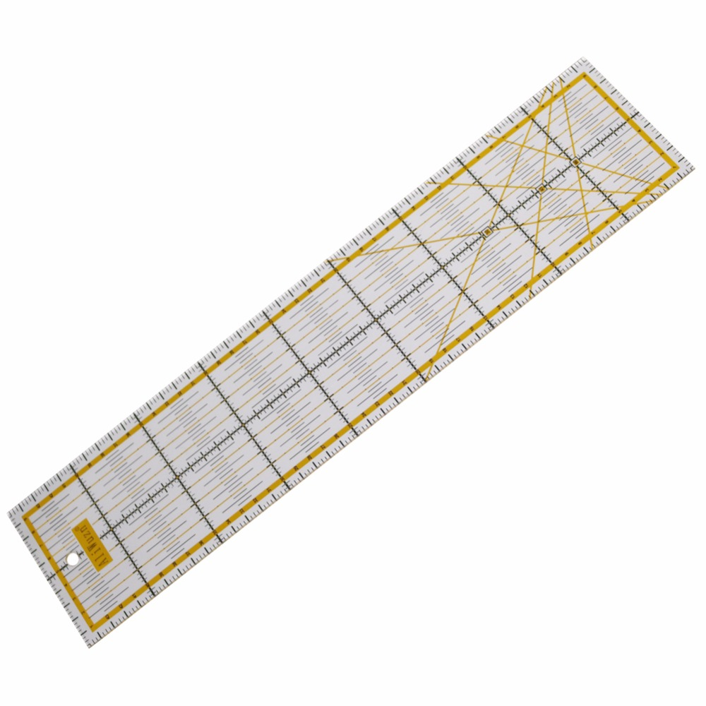1 Pc Acrylic Rectangular Straight Drawing Ruler School Office Drawing Sewing Measuring Patchwork Ruler