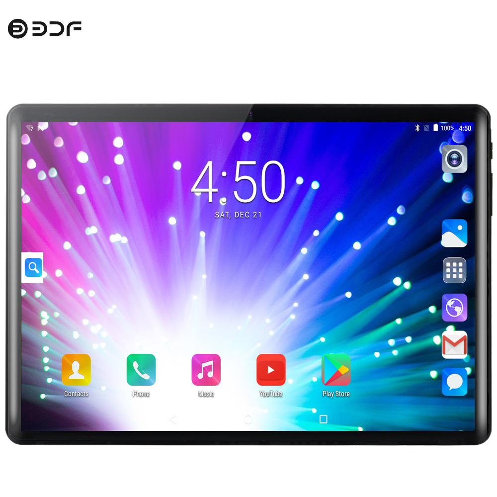New Android 9.0 Tablet Pc 10.1 Inch 3G 4G Mobile Sim Card Phone Call Android 9.0 Tablet Pc 8GB+128GB Ten Core Tablets Pc