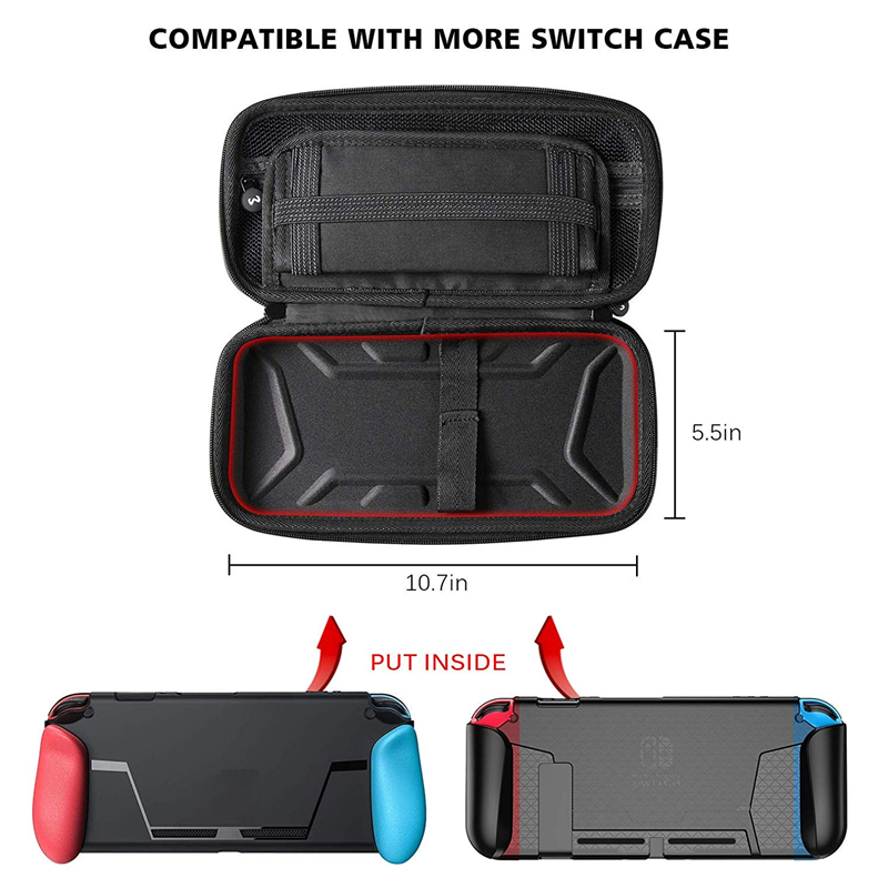 Nintend Switch Carrying Case Protective Hard Shell Storage Waterproof Travel Carry Case Bag for Switch Console & Accessories 1