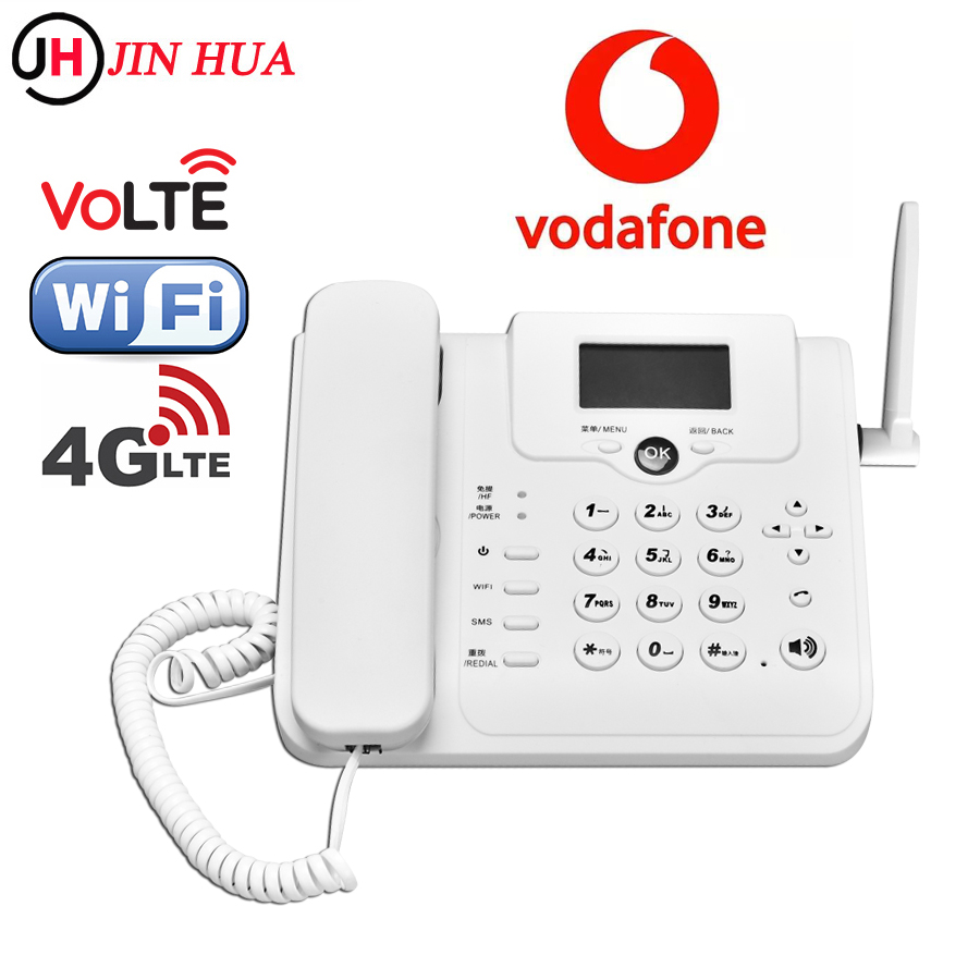 4G Wi-Fi роутер GSM телефон Volte Lte Wifi адаптер стационарный Vodafone модем Sim-карта 4g Wifi точка доступа Настольный телефон стационарный телефон