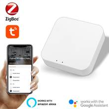 Tuya zigbee3.0 smart gateway hub vida inteligente app controle remoto zigbee dispositivo pode ser usado com alexa sem energia