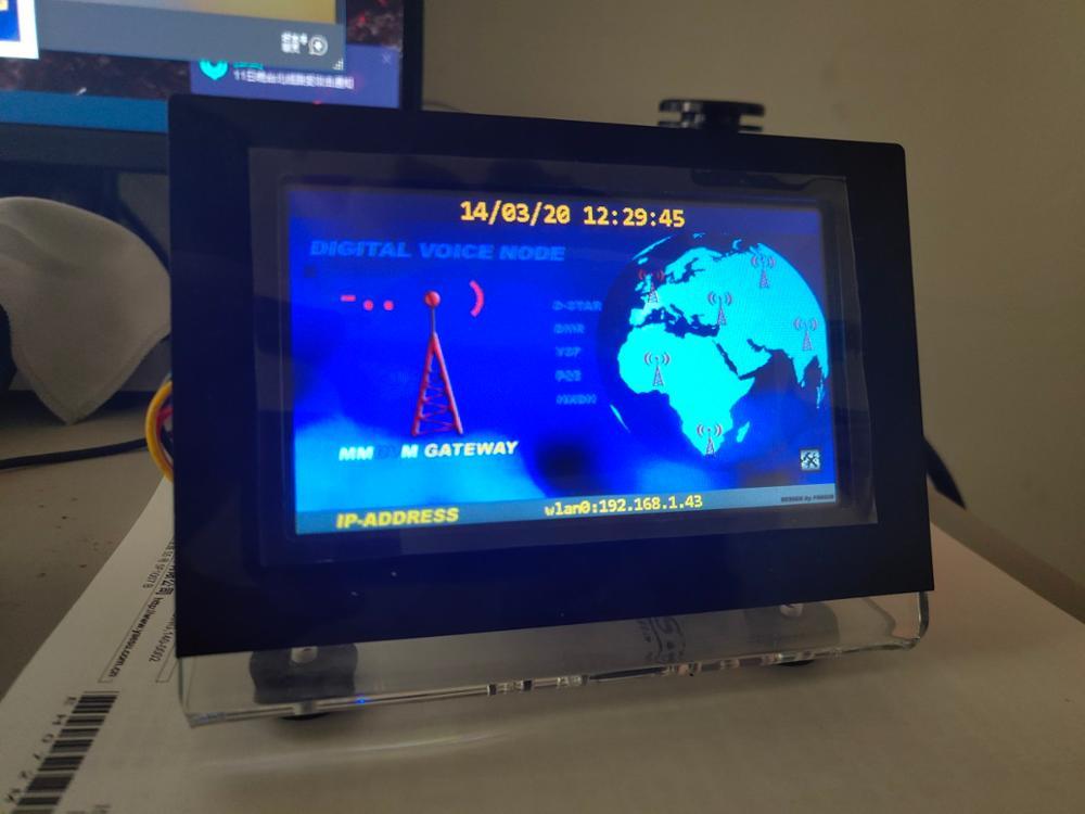 By BI7JTA Duplex MMDVM UHF VHF UV Hotspot For P25 DMR YSF DSTAR NXDN + Raspberry Pi 3B + Acrylic Case + 3.2/4.3 Inch Nextion LCD