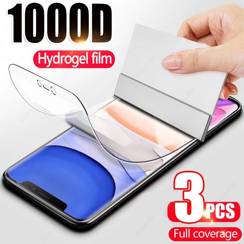 Гидрогелевая пленка для iPhone 7 8 Plus 6 6s 12 11 Pro Xs Max, мягкая защитная пленка для iPhone X, XR, SE 2, не стекло, 3 шт.