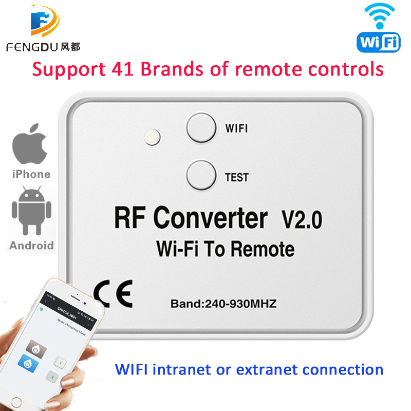WiFi switch <font><b>remote</b></font> control 433MHz 868MHz WiFi to <font><b>RF</b></font> Converter multi frequency rolling code <font><b>Socket</b></font> Relay module Breaker <font><b>remote</b></font> image