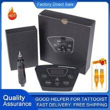 Biomaser profesjonalny zestaw do tatuażu P300 zasilacz tatuaż obrotowy długopis do makijażu permanentnego z wkładami igła do tatuażu