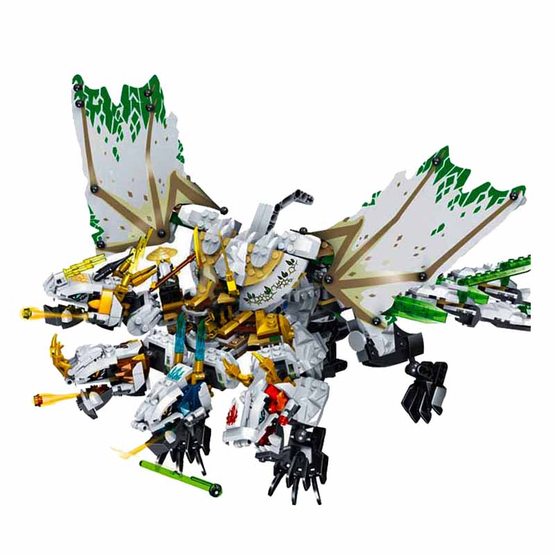 1100pcs Ninja The Ultra Dragon Compatible Legoingery Ninjagoes Dragon Building Blocks Bricks Toys For Children Birthday Gift