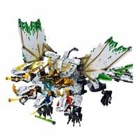 1100pcs Ninja The Ultra Dragon compatible legoingery Ninjagoes Dragon Building Blocks Bricks Toys for Children Birthday Gift
