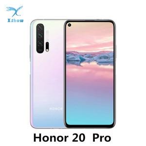 "Image 1 - Honor 20 Pro globalny Rom Smartphone Kirin 980 Android 9 6.26 ""IPS 2340X1080 8GB RAM 128GB ROM 48.0MP + 32.0MP odcisk palca NFC telefon"