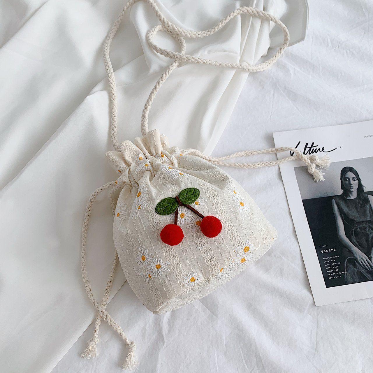 Женская сумка-мешок с цветочным принтом, универсальная повседневная сумка-мессенджер через плечо в иностранном стиле, маленькая вместител...