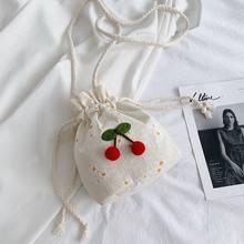 Menina flor balde saco estilo estrangeiro versátil casual ombro saco do mensageiro para as mulheres bolsas de impressão pequena capacidade bolsa