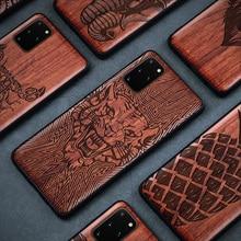Ốp Lưng Gỗ tự nhiên Cho Samsung S20 S10 Plus S20 cực Độc Đáo Hoa Văn Gỗ Bao Da Ốp Lưng Cho Samsung Note 20 Cực lưu ý 10 Plus