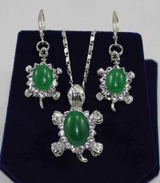תכשיטי פרל סט אופנה חדש עיצוב תכשיטי jades צב עגילים & תליון משלוח חינם